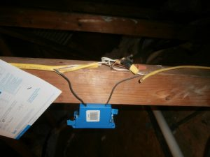 Electrical wiring not in junction box