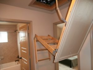 Attic stairs rendered useless