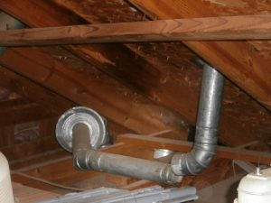 Water heater flue pipe has come apart, heat burning roof