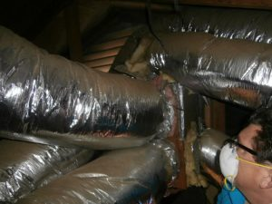Custom duct work from window unit to cool 2nd floor
